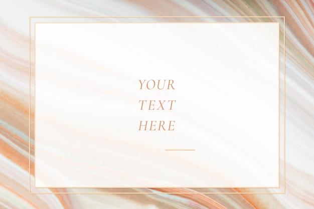 Plantilla de fondo de marco con textura de mármol