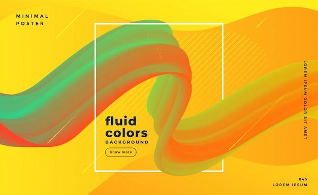 Plantilla de fondo moderno de movimiento fluido que fluye
