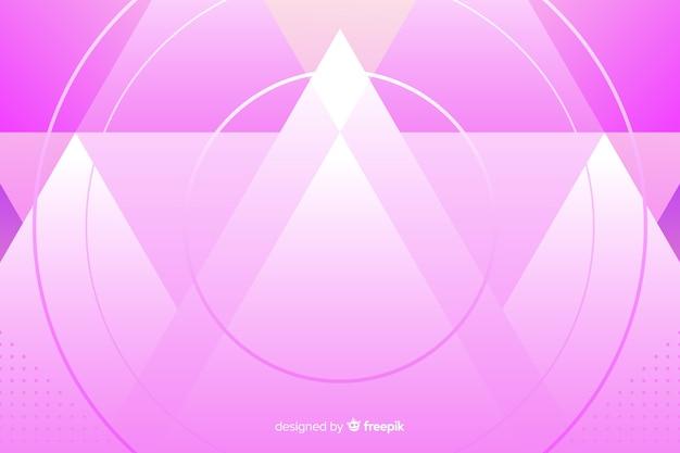 Plantilla de fondo con montañas rosa abstractas