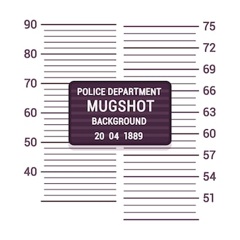 Plantilla de fondo de mugshot