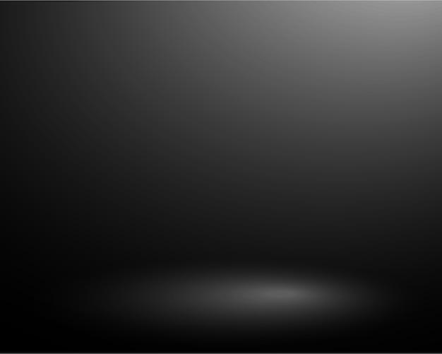 Plantilla fondo negro vacío con iluminación de foco suave