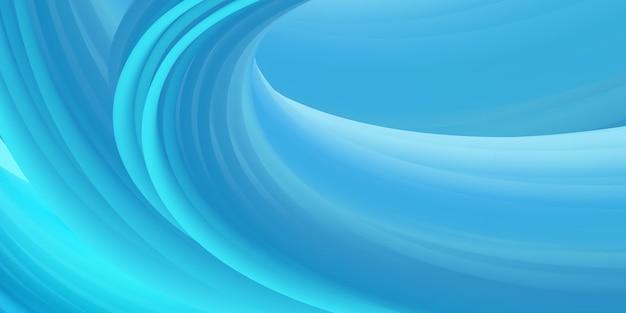 Plantilla de fondo de onda que fluye de color azul abstracto