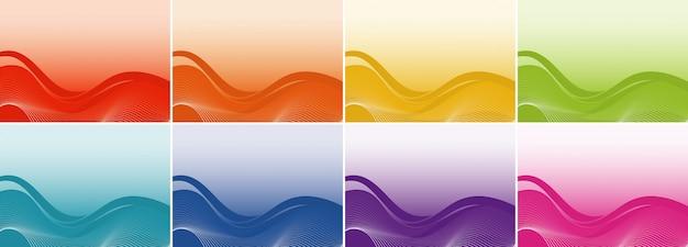 Plantilla de fondo con patrones abstractos
