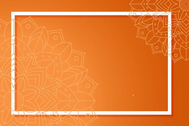 Plantilla de fondo con patrones de mandala