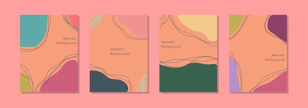 Plantilla de fondo de publicación de redes sociales, diseño abstracto y colores pastel