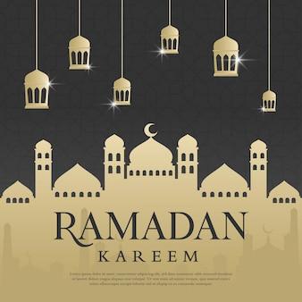 Plantilla de fondo de ramadán kareem