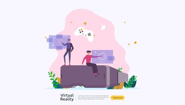 Plantilla de fondo de realidad virtual aumentada