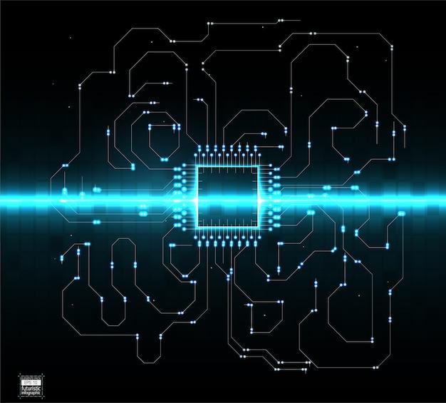 Plantilla de fondo de sistema operativo de tecnología digital abstracta