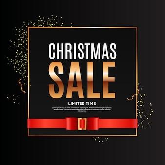 Plantilla de fondo de venta de navidad. ilustración