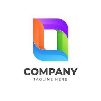 Plantilla de forma abstracta de diseño de logotipo colorido