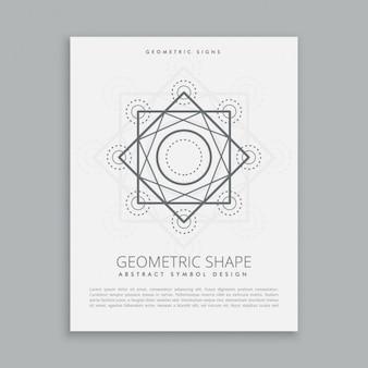 Plantilla de forma geométrica sagrada