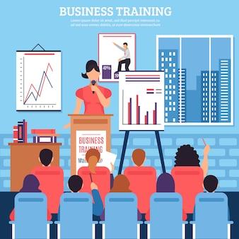 Plantilla de formación empresarial