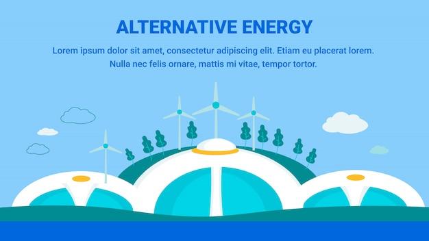 Plantilla de generación de energía alternativa