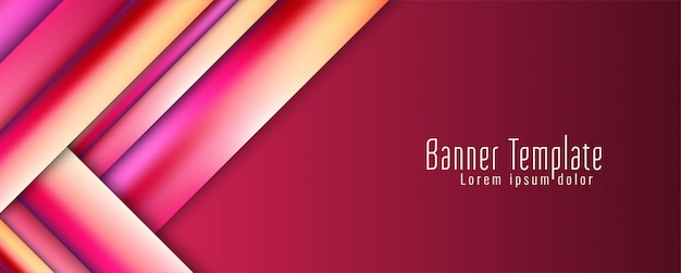 Plantilla geoemtric de banner moderno elegante