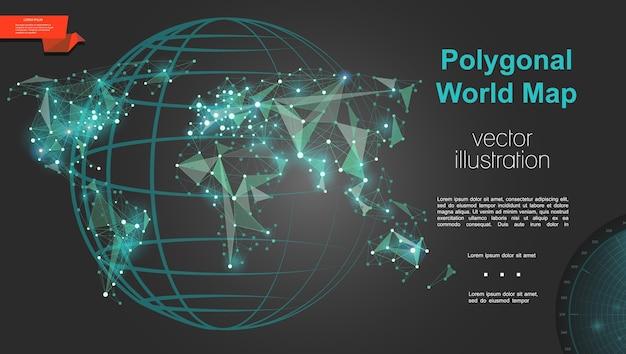 Plantilla de geografía y cartografía global