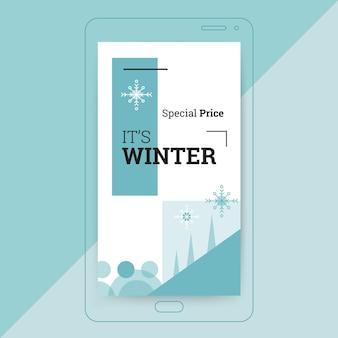 Plantilla geométrica de historia de instagram de invierno de un solo color