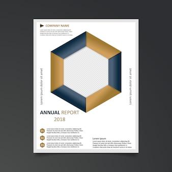 Plantilla geométrica de informe anual