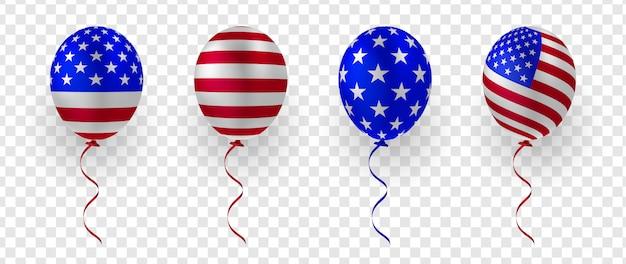 Plantilla de globo patriótico de estados unidos 3d
