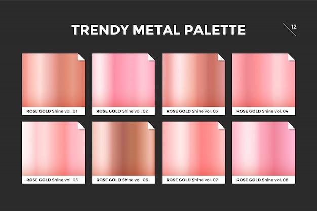 Plantilla de gradiente de oro rosa