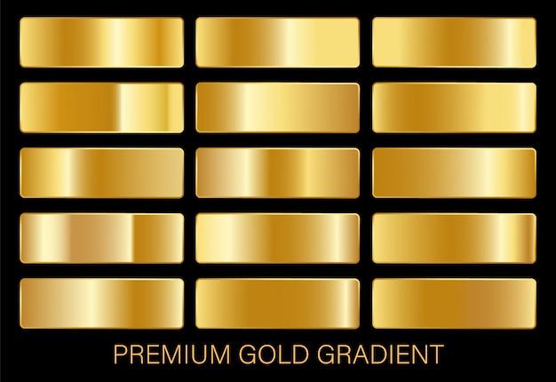 Plantilla de gradientes de oro