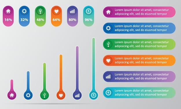 Plantilla gráfica de visualización de datos