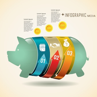 Plantilla de gráfico de información de finanzas de negocios