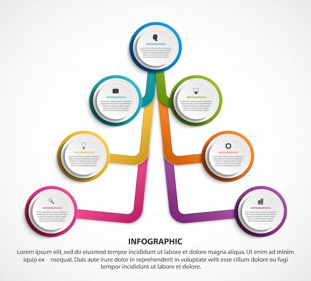Plantilla de gráfico de organización de diseño infográfico.