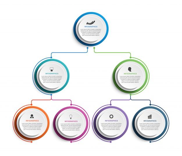 Plantilla de gráfico de organización de infografía.
