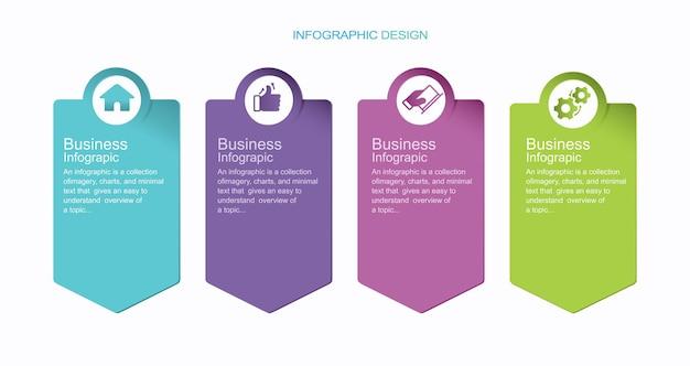 Plantilla de gráfico de proceso de infografía vectorial ilustración de stock de cinco pasos gráfico circular de infografía