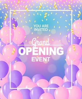 Plantilla de gran inauguración, pancarta, póster