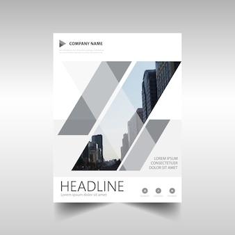 Plantilla gris de informe anual creativo