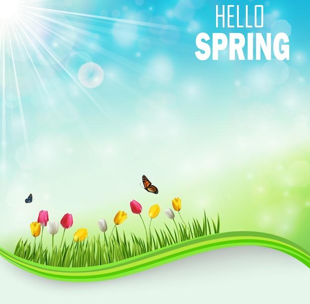 Plantilla hello spring