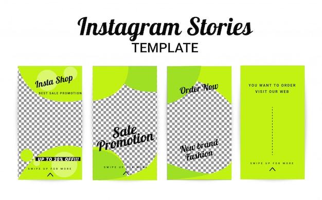 Plantilla de historia de instagram, conjunto de historias