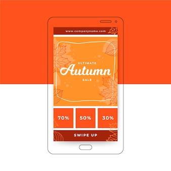Plantilla de historia de instagram de otoño
