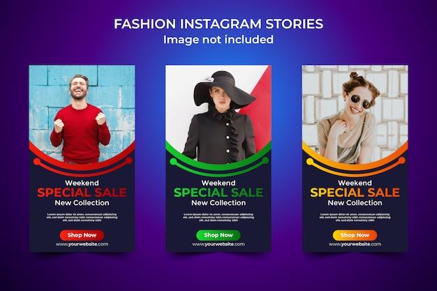 Plantilla de historia de instagram de venta especial de moda