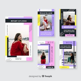 Plantilla de historias abstractas de instagram