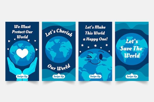 Plantilla de historias de instagram de caridad ambiental