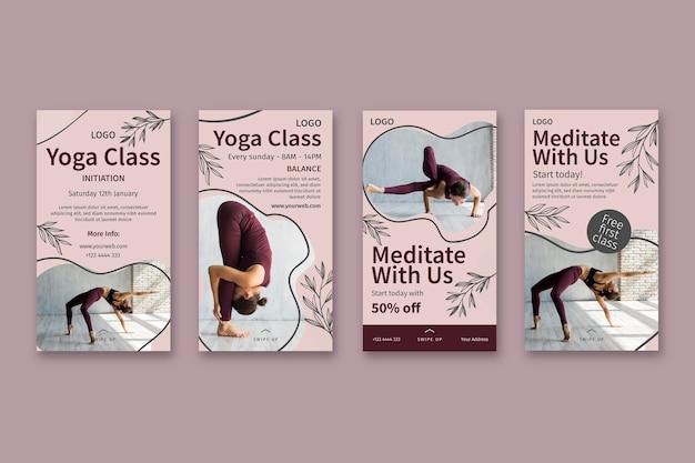 Plantilla de historias de instagram de clase de yoga