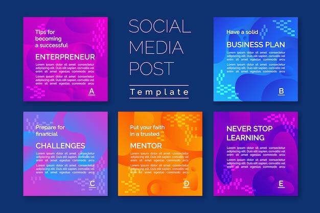 Plantilla de historias de instagram para consejos