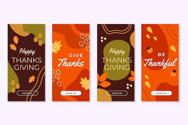 Plantilla de historias de instagram del día de acción de gracias