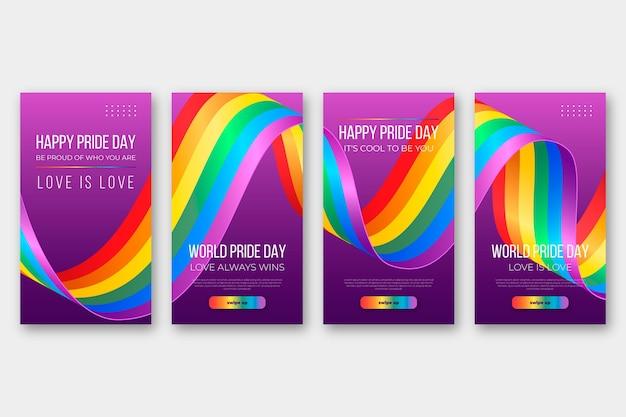 Plantilla de historias de instagram del día del orgullo