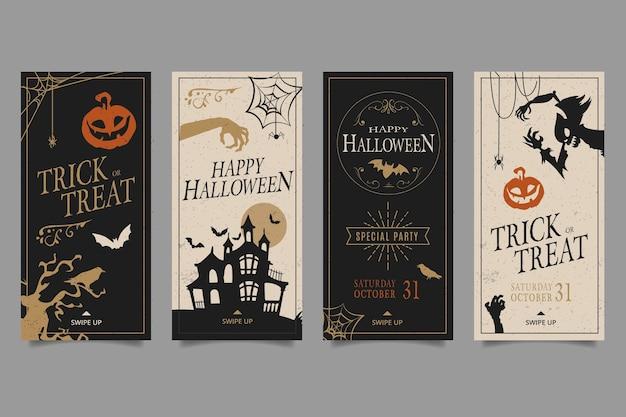 Plantilla de historias de instagram de fiesta de halloween