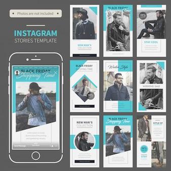 Plantilla de historias de instagram de moda