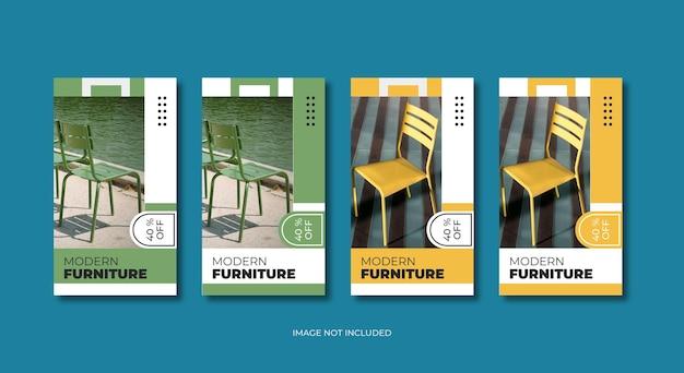 Plantilla de historias de instagram de muebles modernos