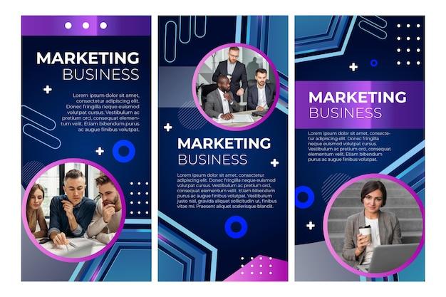 Plantilla de historias de instagram de negocios de marketing