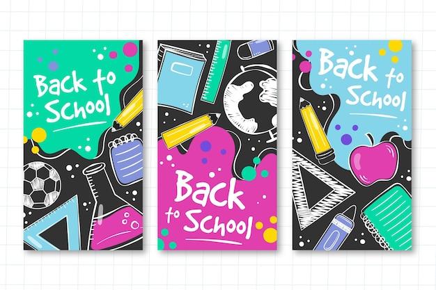 Plantilla de historias de instagram de regreso a la escuela