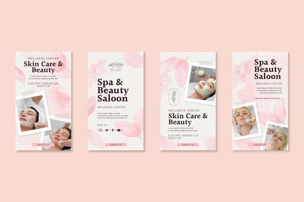 Plantilla de historias de instagram de salón de belleza