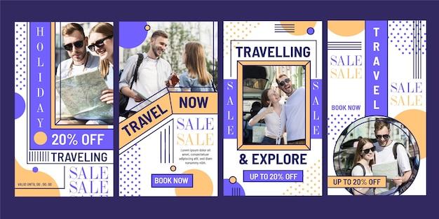Plantilla de historias de instagram de venta de viajes