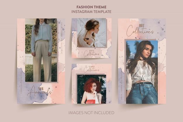 Plantilla de historias de moda mujer instagram