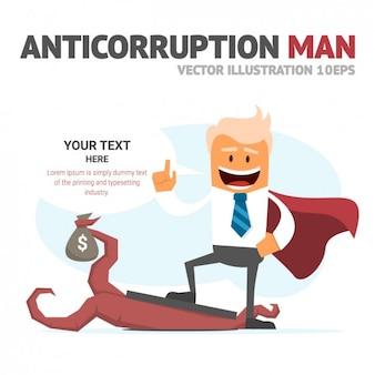 Plantilla de hombre anticorrupción